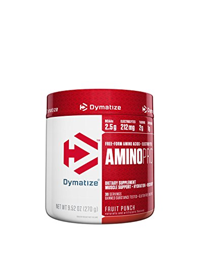 Dymatize Amino Pro Endurance Amplifier, Fruit Punch, 9.52 Ounces by Dymatize