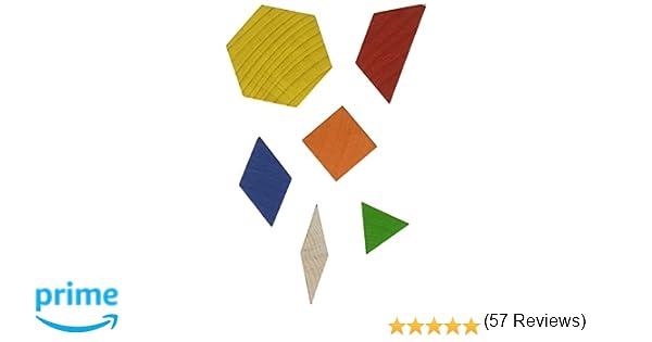 Amazon.com : School Smart Wooden Pattern Blocks - Set of 250 ...