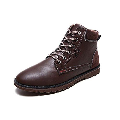JOYORUN Herren Worker Boots Profil Sohle Stiefeletten Warm Gefütterte Outdoor Schuhe