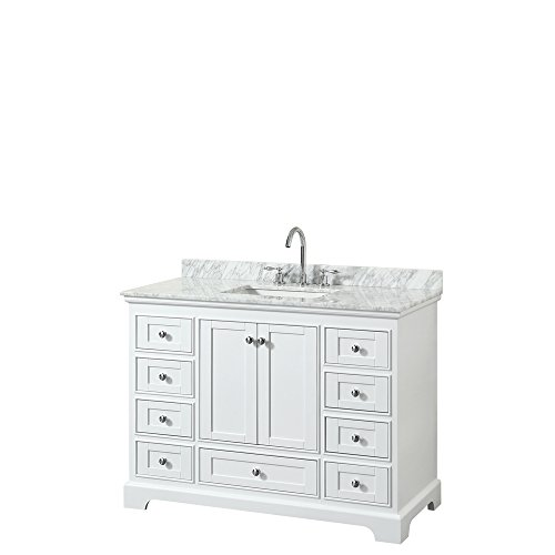 Wyndham Collection WCS202048SWHCMUNSMXX Deborah Single Vanity Set, 48
