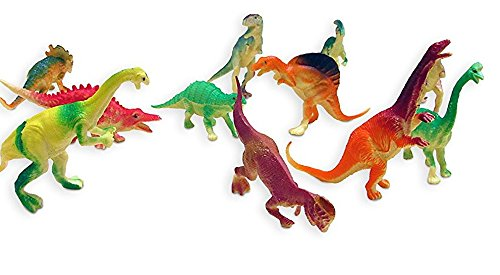 Dazzling Toys Large Assorted Dinosaurs 4'-5' Larger Size Dinosaur Figures - Pack of 12