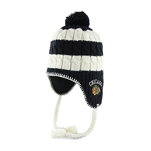 Chicago Blackhawks Women's '47 Brand Sherpette Cable Knit Hat