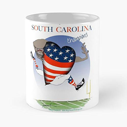We Love South Carolina Football Heroes College Champions Gifts Hero Footb - Funny Sophisticated Design Great Gifts -11 Oz Coffee Mug.the Best Gift For Holidays.