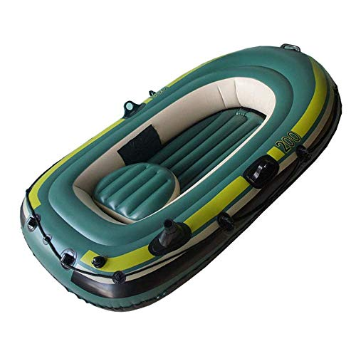 LLSZ Kayak Two Person Inflatable Kayak Inflatable Boat Thickened Wear-Resistant Fishing Boat Fast Travel Canoe