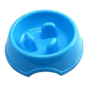 new Union Rich Three Columns Design Non-skid Slow Feed Bowl for Dog and Cat Pet Fun Feeder Dog Bowl Bloat Stop Dog Maze Interactive Puzzle