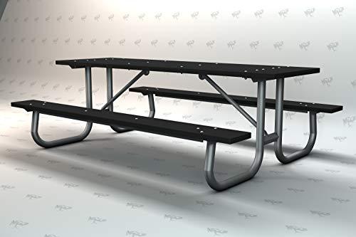Frog Furnishings Galvanized Frame Picnic Table, 8', Gray