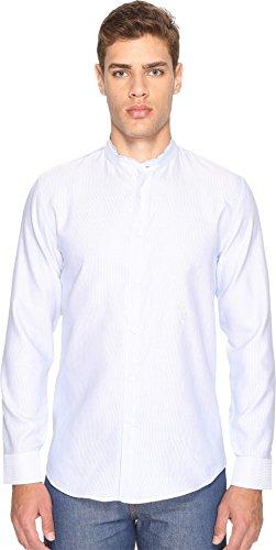 Marc Jacobs Mens Cotton Linen Fine Stripe Shirt Blue/White 50 (US 40) One - Men Marc Jacobs Shirts
