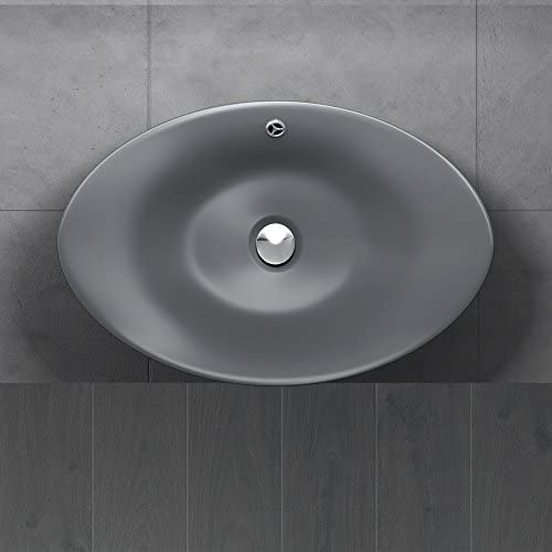 Vasque /à poser noir anthracite lave mains lavabo Sogood Bruxelles118A 58x38x19cm