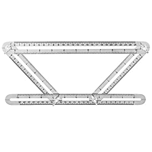 ZDU Stainless Steel Angle-izer Template Tool Angleizer Angle Template Tool Multi-Angle Ruler Measures All Angles and Forms for All Surfaces Durable Easy To Use Tightening Mechanism by ZDU