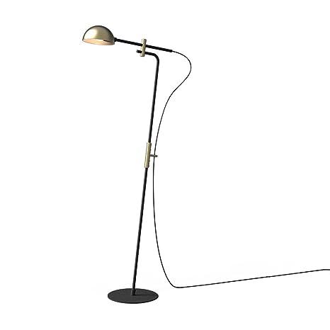 Pie, suerte piedra lámpara de pie de metal diseño industrial ...