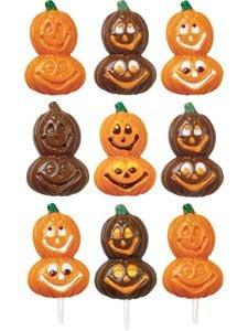 Wilton Smiling Pumpkins Lollipop Mold- Discontinued By (Wilton Halloween Lollipop Molds)