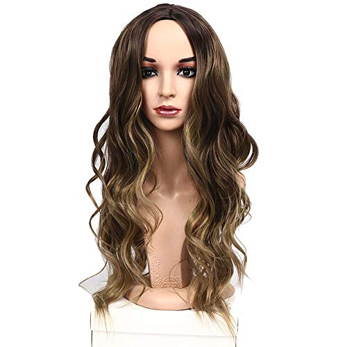 Wig Big Wavy Long Curly Hair Natural Fluffy Women's Sexy Curls Hair Ladies Cosplay Halloween Party, 28inch ()