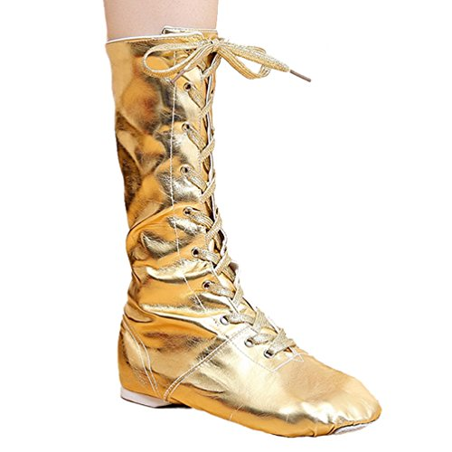 Up Boots Modern Dance LINNUO Lace Jazz Gold Ballet Women Pointe Shoes Dance Shoes Shoes Toe Shoes w5xz50Tq