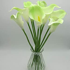 VPT Calla Lily Wedding Artificial Fake Flowers Party Decor Bouquet PU Flower 12PCS 110