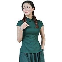 Shanghai Story Women's Linen Tang Suit Chinese Cheongsam Shirt Blouse Top 7 Style
