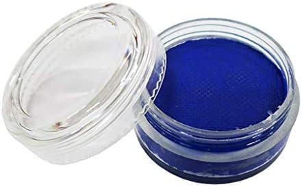 ファション ボディーペイント フェイスペイント ステージメイクアップ 水溶性 コスチューム用 顔料 青, 35mm