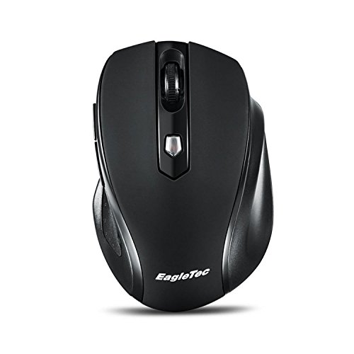 Wireless Mouse EagleTec for Computer, Notebook, PC, Laptop and Mac, Cordless Computer Mouse with mini USB 2.4GHz receiver, Small Portable Ergonomic Mouse MR5M2509 Black
