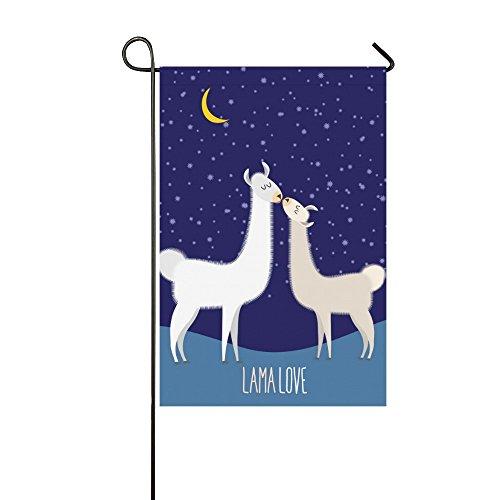 Fantasy Design Llama Alpaca Polyester Garden Flag Banner 12