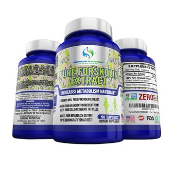 100% Pure Forskolin Extract by Supreme Potential-A Regal Natural Weight Loss, Contains ZERO Caffeine, Gluten and GMO - 450mg - 180 Capsules - 6 Months Supply - Manufactured in USA.
