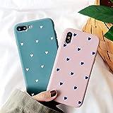 BONTOUJOUR iPhone XR Phone Case, Beautiful Art Polka Dot Flower Little Heart Pattern
