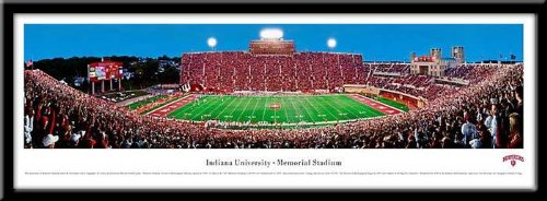 Indiana University Memorial Framed Panoramic Stadium Print (Memorial Stadium Panoramic Print)