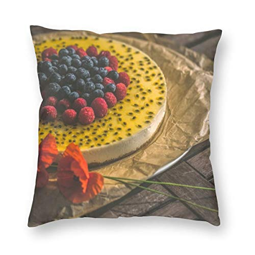 Osvbs Red and Blueberry Cake On Brown Wooden Surface Multi-Code Creative Home Double-Sided Printed Pillowcase Without Pillow Core with Invisible Zipper 22