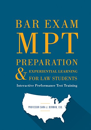 Pdf Law Bar Exam MPT Preparation & Experiential Learning For Law Students: Interactive Performance Test Training