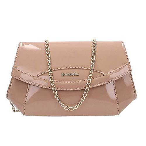 42827a7a58 Borsa NeroGiardini P945015D-626 Clutch donna in vernice rosa nudo:  Amazon.it: Abbigliamento