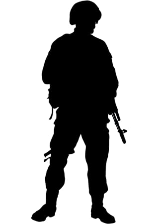 amazon com american military soldier silhouette wall decal by