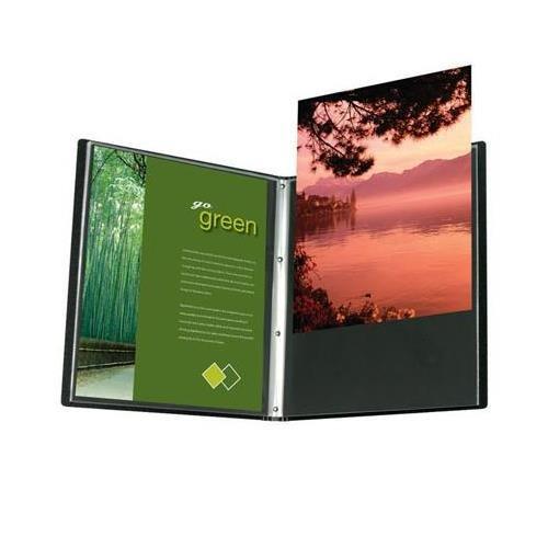 Itoya AD24-12 Art Profolio Advantage Presentation Book, 24 Sheet Protectors with Black Mounting Paper, 11 X 17 inches, Black