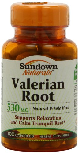 Sundown Naturals racine de valériane, 100 Capsules (pack de 4)