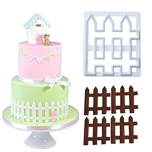 Fondant Molds - Food Grade Fondant Mold Bakeware 1pc Sugarcraft Cake Decorating Plastic Fense Shaped - Sets Kit Nautical Minions Abc Decorating Coaster Large Mouse -