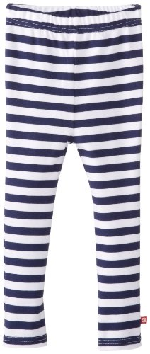 (Zutano Little Girls' Primary Stripe Skinny Legging, Navy/White, 2T)