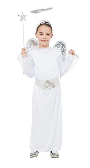 Theme Fancy Dress Disfraz infantil de Ángel. 6-9 años