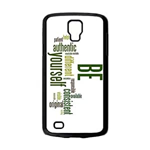 Design Snap-on Creative Theme Be yourself and believe in yourself in the world Hard Plastic Protective Case Shell for Samsung Galaxy S4 Active i9295 Cover-2