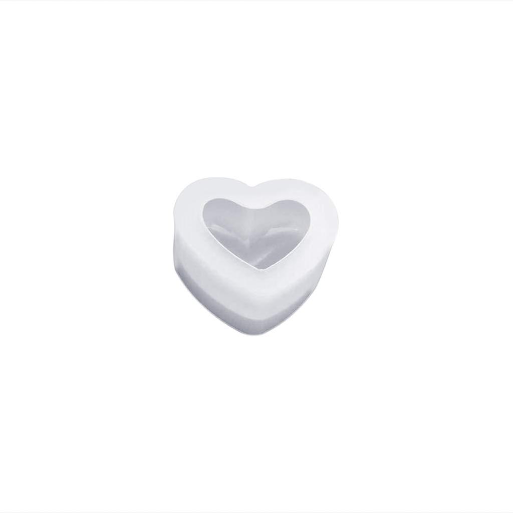 Fabbricazione di Gioielli a Mano Fondente S Jiay Artigianato 3D Stampo in Silicone a Specchio a Forma di Cuore Silicone Resina epossidica bricolage Liscio Torte
