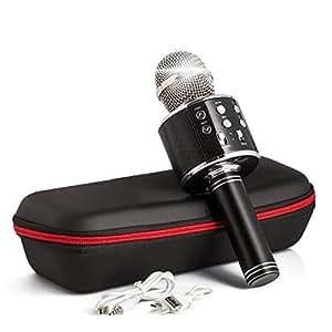 Inalámbrico portátil micrófono Karaoke 2018 nuevo diseño Instagram 5000 + Le Gusta Bluetooth micrófono de karaoke