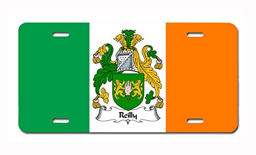Carpe Diem Designs Reilly Coat of Arms/Reilly Family Crest (Ireland) License/Vanity Plate - Made in The U.S.A.