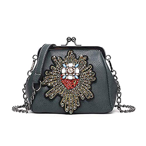 Totes Shoulder Pt16 Purse Minimalist Appliques Kiss Diamonds Leather Retro Satchel Handbag Abuyall Crossbag Chains Ladies Lock Pu Bag Bag Uqv6SPgS