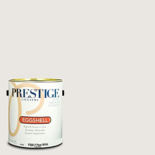 Prestige Paints Interior Paint and Primer In One, 1-Gallon, Eggshell,  Comparable Match of Behr Cameo (Cameo Egg)