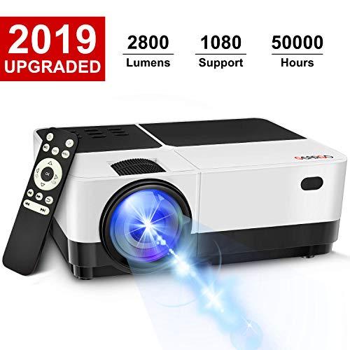 GEARGO 2800 Lumens HD Portable Projector