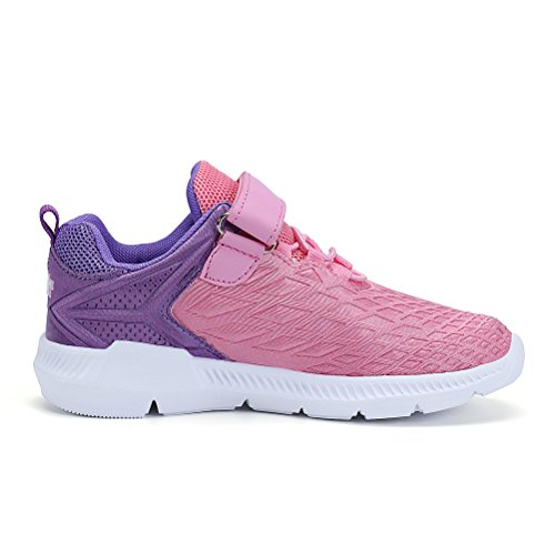AFFINEST Boys Girls Lightweight Sneakers Athletic Easy Walk Casual Sport Running Shoes for Kids(Pink,26) by AFFINEST (Image #4)