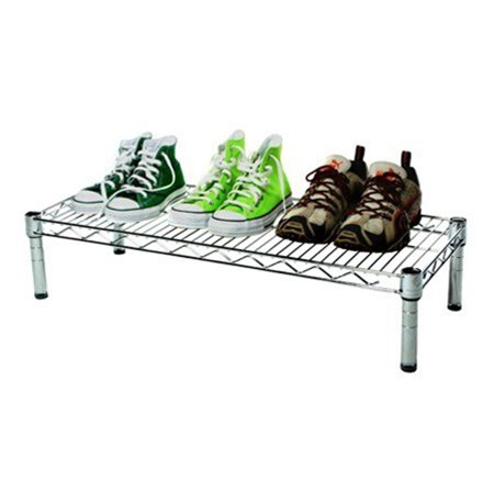 14''d x 30''w Chrome Wire Shelving with 1 Shelf by Shelving Inc