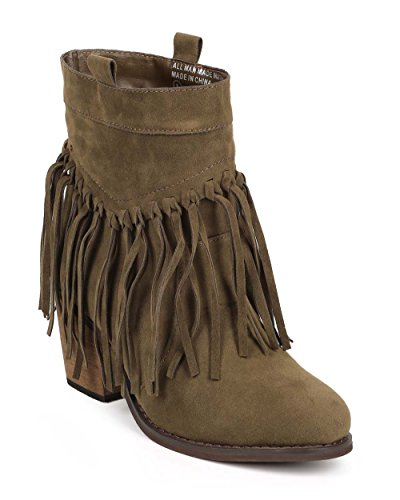 bumper-dd60-women-suede-almond-toe-knotted-fringe-pull-on-ankle-bootie-olive