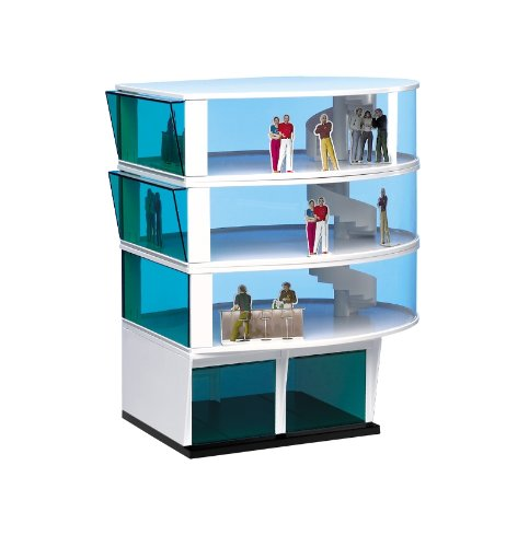 Carrera 21102 Press Tower Building Realistic Scenery Accessory For Slot Car Race Track Sets, White from Carrera
