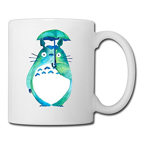 White Water Color Totoro Ceramic Coffee Cup 11oz