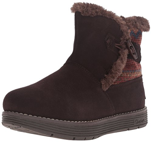 Snow Women's Skechers Trimmed Chocolate Boot Sweater Adorbs wvwqIz0