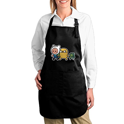 [Adventure Time Family Kitchen Aprons For Women Men,Cooking Apron,bib Apron With Pockets] (Toddler Gardener Costume)