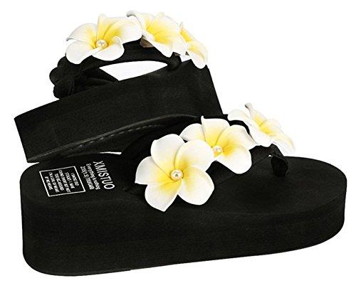 Good Night Partysu Frangipani Zeppa Infradito sandali da spiaggia per le donne