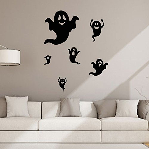 (OTTATAT Wall Stickers for Living Room 2019,Halloween Background Wall Decoration Removable s Easy to Peel Wedding Wedding Night Gift for Friends Clearance Home Decor & Kitchen Timber)